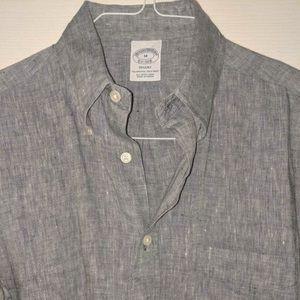 Brooks Brothers Irish Linen Button Down Shirt
